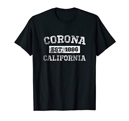 Corona California T Shirt Est. 1886 Distressed ()