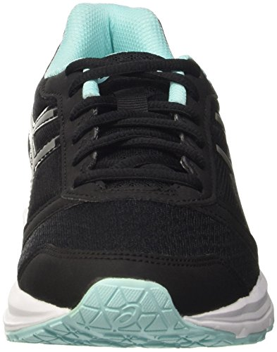 Asics Patriot 8 W, Zapatillas De Running Mujer Negro (Black/Silver/Aruba Blue)