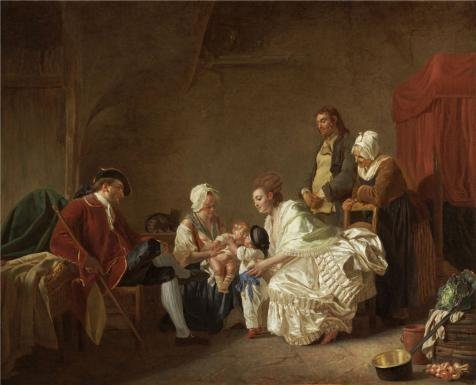 [Oil Painting 'Etienne Aubry,The First Lesson Of Fraternal Friendship,1776' Printing On High Quality Polyster Canvas , 12x15 Inch / 30x38 Cm ,the Best Living Room Decoration And Home Gallery Art And Gifts Is This Imitations Art DecorativeCanvas] (Plastic Surgery Costume Makeup)