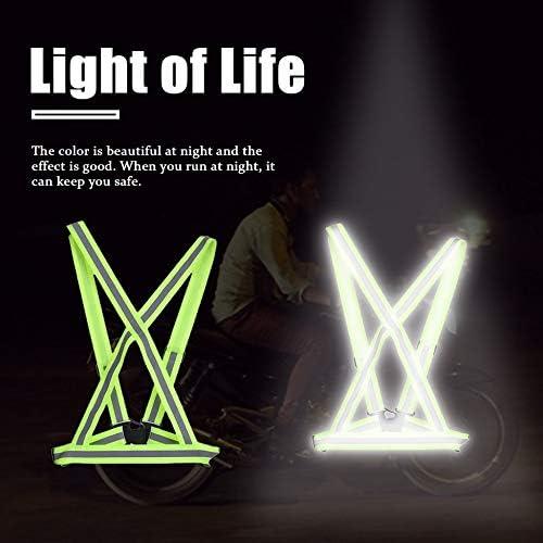 Justdodo Transpirable Tr/áfico Trabajo Nocturno Seguridad Correr Ciclismo Seguridad Chaleco Reflectante Chaqueta de Seguridad Reflectante de Alta Visibilidad
