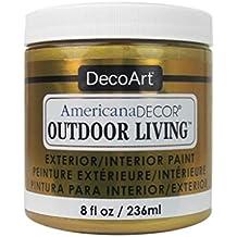 Decoart DECADOL-36.27 Outdoor Living Metallcs8ozGold Americana Outdoor Living Metallics 8Ozgold