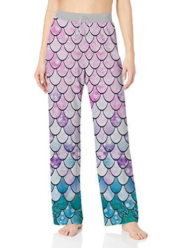 ALISISTER Womens Pajama Bottoms Palazzo Lounge Pants Wide Leg Baggy Plus Size Trousers Mermaid Pants Elastic Drawstring Home Clothes S]()