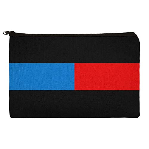 Thin Blue Red Line Firefighter Police Emergency Response Pencil Pen Organizer Zipper Pouch Case