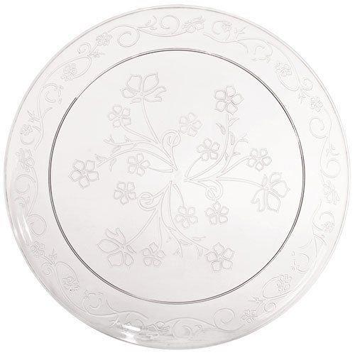 (Hannah K. Signature Collection D'Vine 10 Clear Plastic Scroll Dinner Plates *Case of 60* by Hannah K. D'vine)