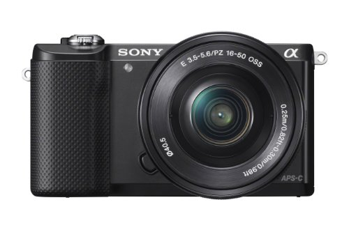 Sony Alpha a5000 Mirrorless Digital Camera with 16-50mm OSS Lens (Black)