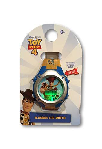 (Toy Story 4 Flashing Lights Watch - Sheriff Woody or Buzz Lightyear LCD Digital Watch for Boys (Sheriff)