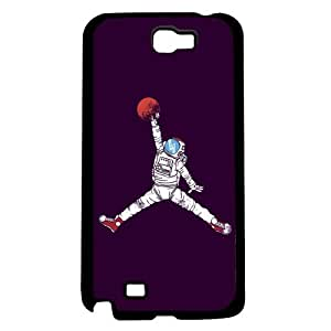 Cool Astronaut Jump Man on Blue Background Hard Snap on Phone Case (Note 2 II)
