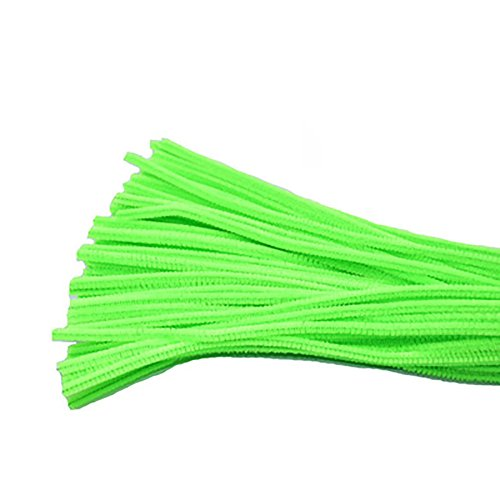 Freedi 95Pcs Pipe Cleaners Chenille Stem Creativity for Classroom Craft DIY Art Supplies 6mm ( Light Green) ()