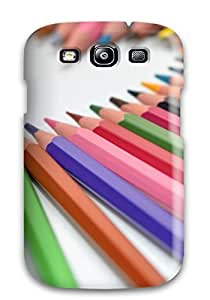 New Style Flexible Tpu Back Case Cover For Galaxy S3 - Pencils Heart 1056060K14039760