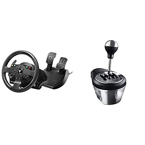 Thrustmaster TMX Force Feedback Racing Wheel para Xbox One y Windows & TH8A Add-On Gearbox Shifter para PC, PS3, PS4 y Xbox One