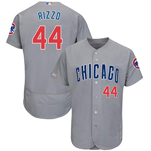 Mitchell Base - Mitchell & Ness Men's Anthony Rizzo Chicago Cubs Flex Base Player Jersey Gray