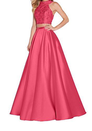 Linie 2018 Jugendweihe Wassermelon Charmant Damen Rosa Ballkleider Abendkleider Neu Rock Dunkel A Elegant Festlichkleider Pailletten Kleider f87wr85q