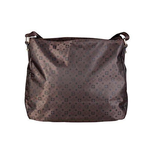 £99 Laura Biagiotti RRP Genuine Crossbody Designer 90 Cross Bag Body Bag Women Brown pPpqf