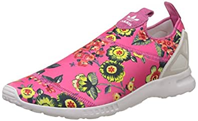 adidas Originals ZX Flux ADV Smooth Slip On Womens Trainers - Pink-5.5