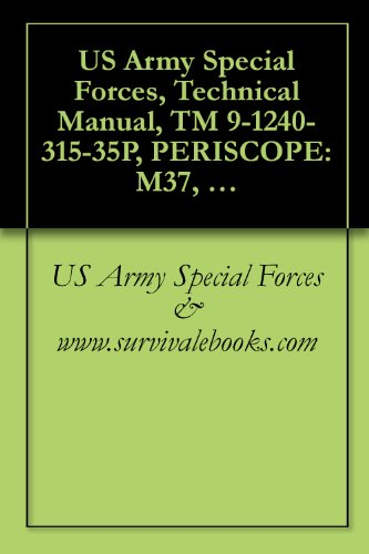 Used, US Army Special Forces, Technical Manual, TM 9-1240-315-35P, for sale  Delivered anywhere in USA
