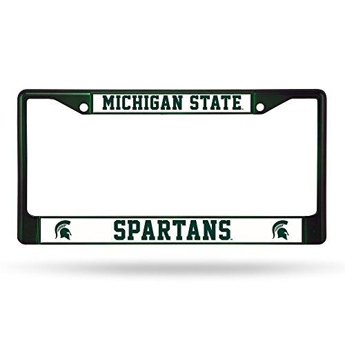 Rico Industries NCAA Michigan State Spartans Team Colored Chrome License Plate Frame, Dark Green