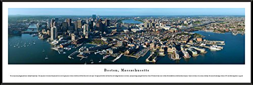 Boston, Massachusetts - Blakeway Panoramas Skyline Posters with Standard ()