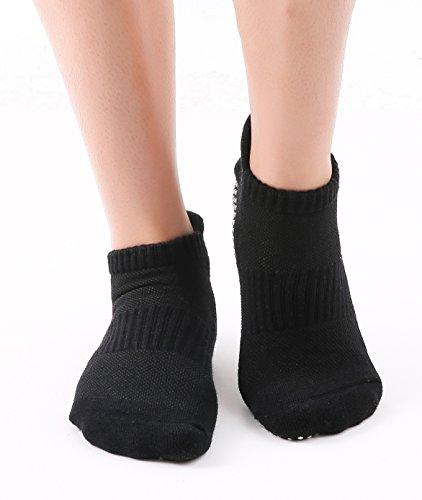 JNINTH Non-Slip Non-Skid Yoga Socks Cotton Pilates Ballet Sock with Grips for Women Girl