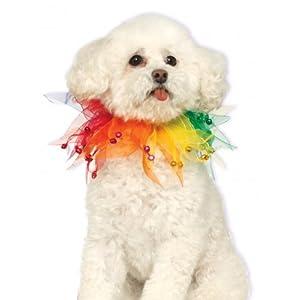Rubies Costume Company Fancy Rainbow Pet Collar, Large/X-Large
