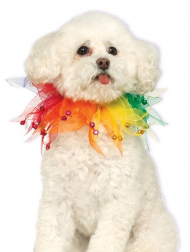 Rubie's Costume Co Fancy Rainbow Pet Collar, Small/Medium