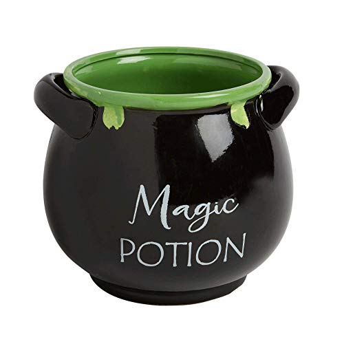 "Haunted Halloween ""Magic Potion"" Ceramic Decorative Halloween Cauldron"