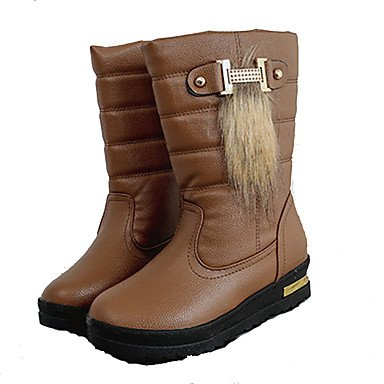 CN38 US7 UK5 Winter Shoes Khaki 5 5 Casual Round RTRY For Fall EU38 Booties Boots Boots Black Toe White Fashion Boots Women'S Pu Ankle w1wq5xgU
