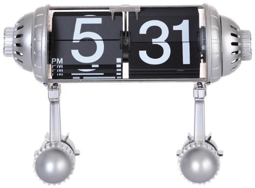 Maple's BPF3A Table Flip Clock Rocket Legs - Hour and minute automatically flip Displays am or pm Rocket themed - clocks, bedroom-decor, bedroom - 41JrlwLsYOL -