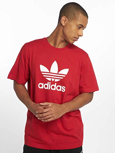 Power Red Manche Pull Trefoil Adidas Sans Homme T shirt Cwxaq00PF