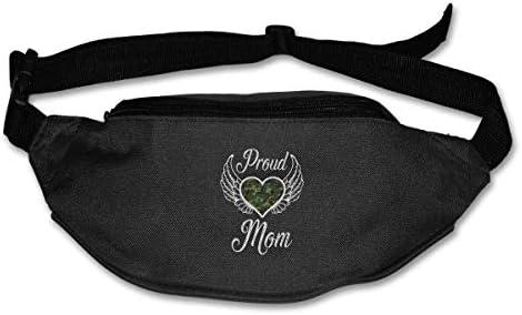 自慢の軍隊ママユニセックスアウトドアファニーパックバッグベルトバッグスポーツウエストパック