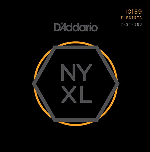 DAddario NYXL1059 Nickel Plated Electric Guitar Strings, Regular Light,7-String,10-59 - High Carbon Steel Alloy for Unprecedented Strength - Ideal Combination of Playability and Electric Tone