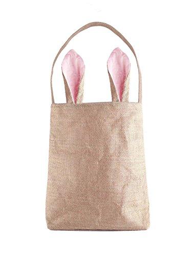 Easter Bunny Bags, PJS-MAX Dual Layer Bunny Ears Design Jute