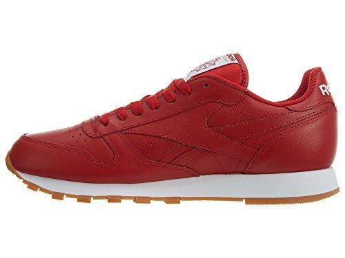 Scarlet Men's Sneaker Lthr White Reebok Cl Gum xgSqwXd