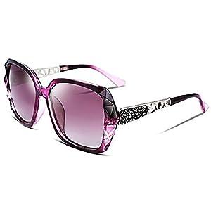2018 Women Classic Oversized Polarized Sunglasses Fashion Modern Shades 100% UV Protection (Purple)