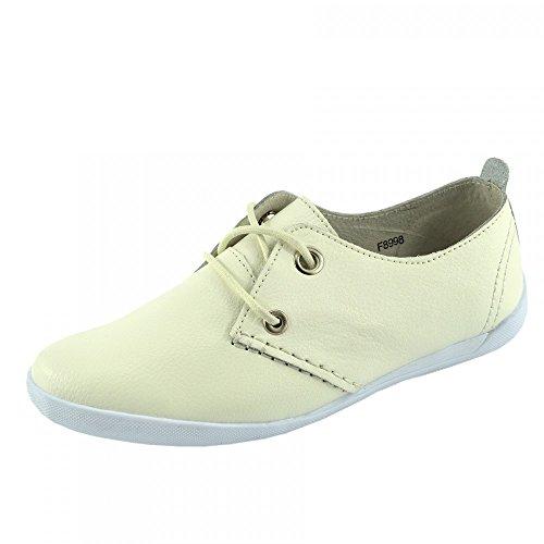 Bianco Tomaia In Kick Scarpe A Footwear Sport Donna Pelle Piedi E Vera F8998 Eleganti Lace up CFwUfq6