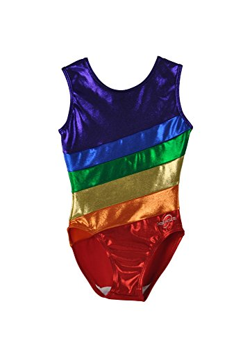 Snowflake Designs Leotards - Obersee Girl's Gymnastics Leotard, Rainbow, CS