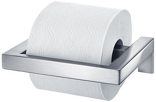 Blomus Toilet Roll Holder (Blomus Menoto Loo Roll Holder, Toilet Paper Holder, Stainless Steel Matt, 5x17x14cm, 68837)