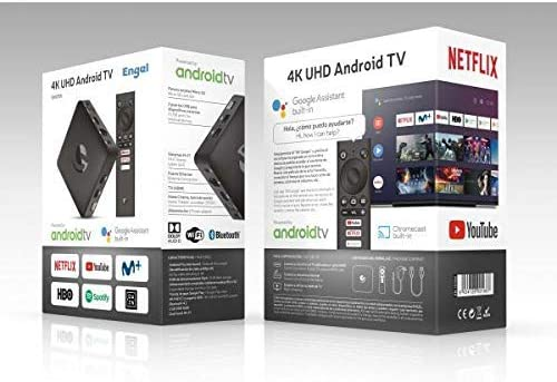 Engel EN1015K, Android TV Box 4K UHD, Asistente de Google Chromecast, Smart TV Box: Engel-Axil: Amazon.es: Electrónica