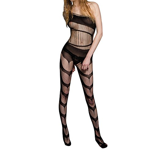 SZT Sexy Lingerie For Women For Sex, One Piece Halter Mesh Fishnet Floral Crotchless Teddy Nightie Bodystockings Babydoll Lace Bodysuits Nightwear Sheer On Sale Clearance (A)