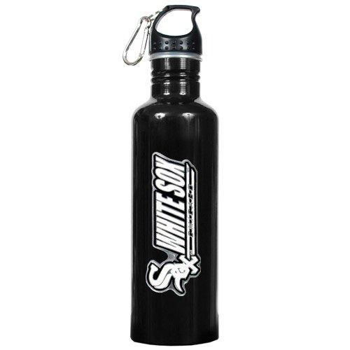 Chicago White Sox Mlb 26Oz Black Stainless Steel Water Bottle ()