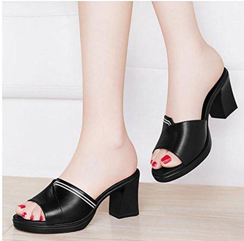 d'été des des plates de et chausson portent femmes et nbsp; talons chaussures Pantoufles sandales air talons sandales à pantoufles hauts sandales mode à de mode pantoufles en des grossiers B plein Sandales zqB140