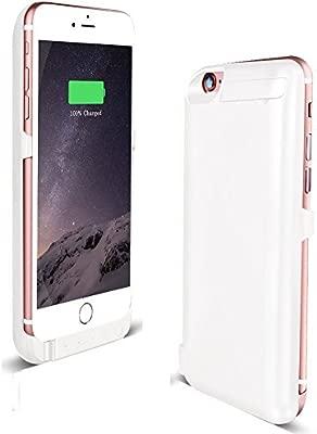 Funda Batería iphone 6 / 6s,YiYunTE 5800mAh Cargador Batería Externa Carcasa Protectora Para iPhone 6, iPhone 6S Blanco