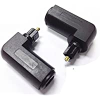 Lemeng 2-Pack Toslink 90 Degree Digital Optical Audio Cable Adapter Male to Female