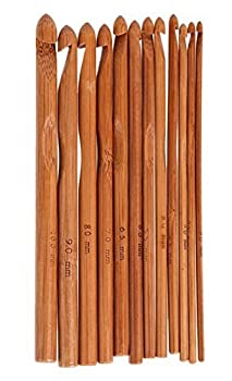 ZXUY Bamboo Handle Crochet Hooks Set