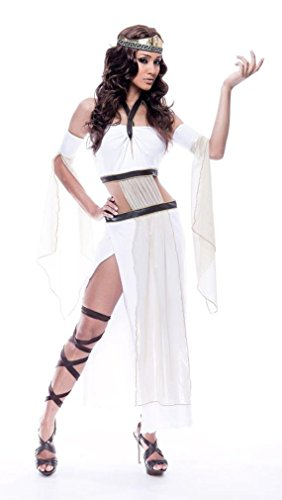 [Paper Magic Womens French Kiss Grecian Goddess Costume, White/Brown, X-Small] (French Kiss Costume)