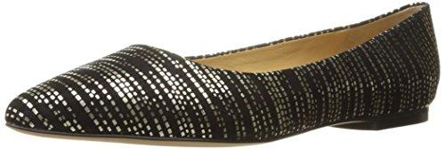 Trotters Women's Estee Ballet Flat, Black Patent, 6.5 N US Black/Gold