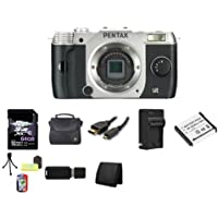 Pentax Q7 Compact Mirrorless Camera Body (Silver) 64GB Bundle 4