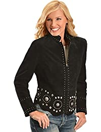 Women's Studded Suede Jacket - L191-19