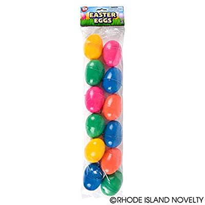 Rhode Island Novelty Easter Eggs Bght Plastic Egg Assortment 144 Pieces: Toys & Games