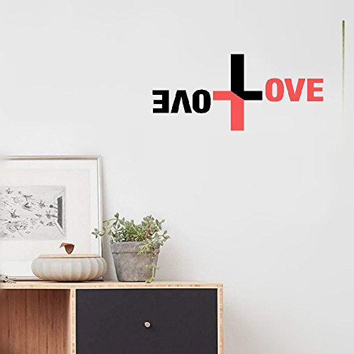 iopmm sticker for wall decoration Contrast Tone Patch Work Cross Plus Shape Vinyl Decal,Love Quotes Wall Sticker Home Decor Wallpaper