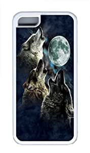 diy phone caseThree Wolf Moon in Blue TPU Case Cover for iphone 5/5s Whitediy phone case